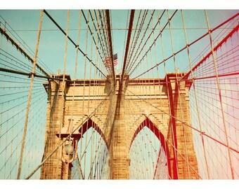 Landscape Photograph - New York Photography - Brooklyn Bridge Art- Bridges Of NYC Part 6 - Fine Art Photograph - New York City Print - Bock
