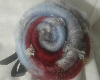 Safe harbor 1oz mini batt spinning fiber felting fiber wool #121