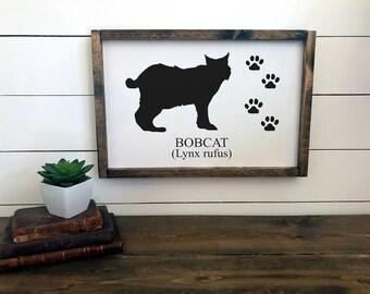 Woodland Nursery Decor   Bobcat Sign   Nursery Wall Art   Framed Sign   Cabin Decor   Lodge Decor    Camp Sign   Rustic Sign Decor