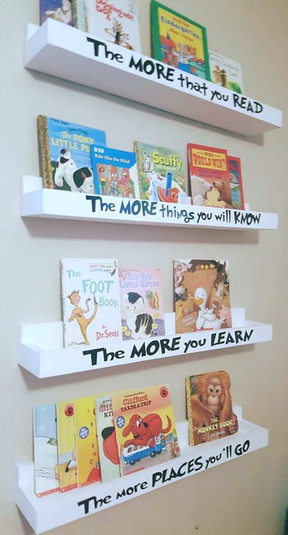 Dr Seuss Book Shelf Floating Book Ledges Hanging