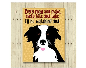 Border Collie Magnet, Border Collie Art, Dog Magnet, Dog Lover Gift, Border Collie Gift, Fridge Magnet, Refrigerator Magnet, Dog Lover Gift