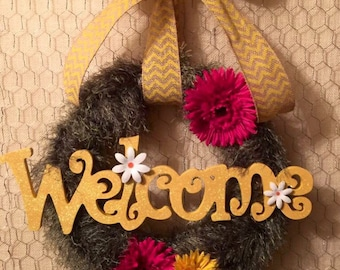 Welcome wreath - Floral - Spring - Summer