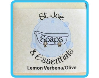 Lemon Verbena-Olive Soap, Handmade Soap, All Natural Soap, Organic Saponified Olive Oil, Coconut Oil, Shea Butter, Fragrance Oil