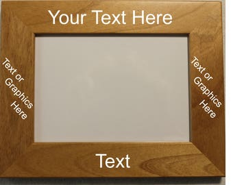 Personalized Picture Frame - Create Your Own. (See photo 3 for font options)
