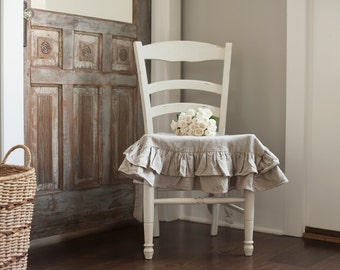 Seat Cover-Double Ruffled Linen