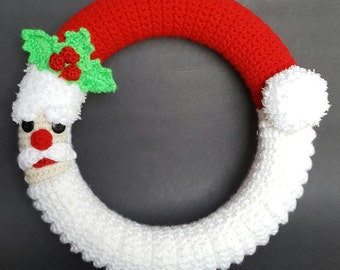 Crochet Santa wreath