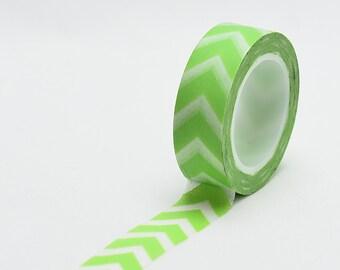Lime chevron Washi Tape - green chevron - Love My Tapes-LMT1190