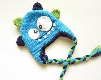 Little Monster Crochet Hat For Baby