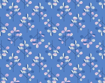 Hann's Tree on Blue - Hann's House - Lewis and Irene - A280-2  - Available in Fat Quarters, Half Yards and Yards