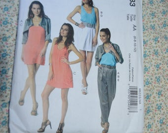 McCalls 6333 Misses Jacket TopDress Skirt and Pants Sewing Pattern UNCUT Size 6 8 10 12