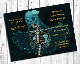 Gothic | Dead | Skeleton | Bridal Shower | Bachelorette Party | Corpse Bride | *DESIGN ONLY