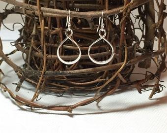 Infinity Loop Sterling Silver Earrings