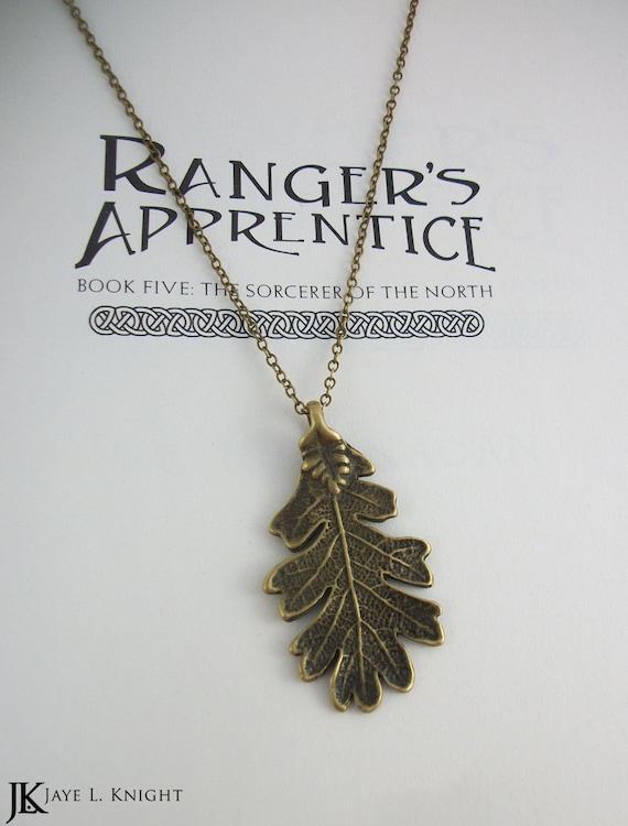 Rangers apprentice bronze oak leaf pendant aloadofball Image collections