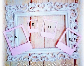 Mini Photo Frame Set. 1 pack of 2 sets. Perfect for cardmaking, scrapbooking, layout, tags and many more.