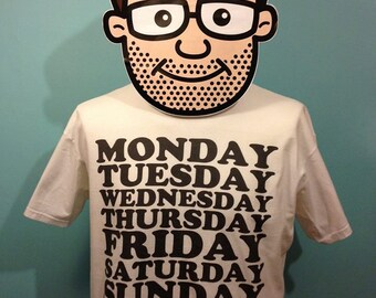 Doris Day - Easy Listening Music T-Shirt (8 Days A Week) - White Shirt