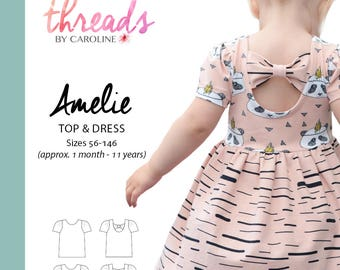 Amelie top & dress ENGLISH