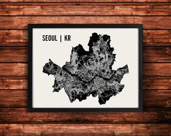 Seoul Map Art Print   Seoul Print   Seoul Art Print   Seoul Poster   Seoul Gift   Wall Art