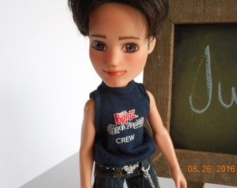 Made under repaint recycled Bratz boy doll - Minka's Kids Justice