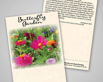 Butterfly Mix seed packets, set of 20