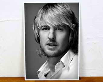 Owen Wilson Poster Print - 2 sizes - A4 and A3