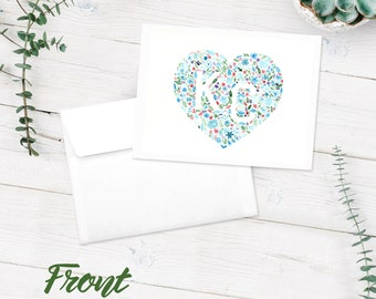 Notecards | Blank Note Cards | 10-Pack Greeting Cards | KC Watercolor Floral Art Print | Kansas City | Multi-Colored Flowers | FREE SHIPPING