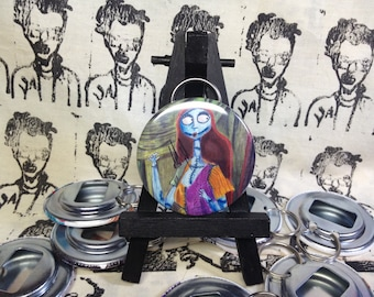 Nightmare Before Xmas Sally original art Bottle Opener