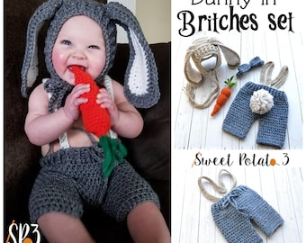 Bunny in Britches Set - Crochet Pattern