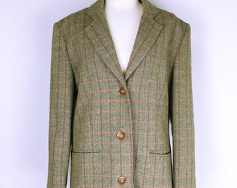 GIVENCHY 80's vintage Check pattern tweed jacket
