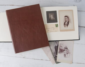 Classic Leather Photo Album, Custom Photo Book