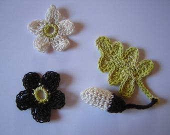 leaf oak Acorn and two matching flowers