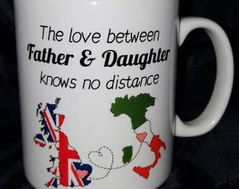 The Love Between Mother & Daughter Knows No Distance Mug, Gift For Her, Father and Daughter, Mother and Son, Long Distance Gift, Ceramic Mug