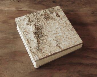 instant photo wedding guest book custom birch bark wood scrapbook  instant photo album   anniversary scrapbook baby book  made to order