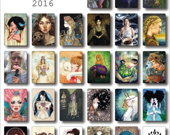 ORCHARD - print set collection 2016, limited edition selection of 27 prints by Bad Apple Artist collective