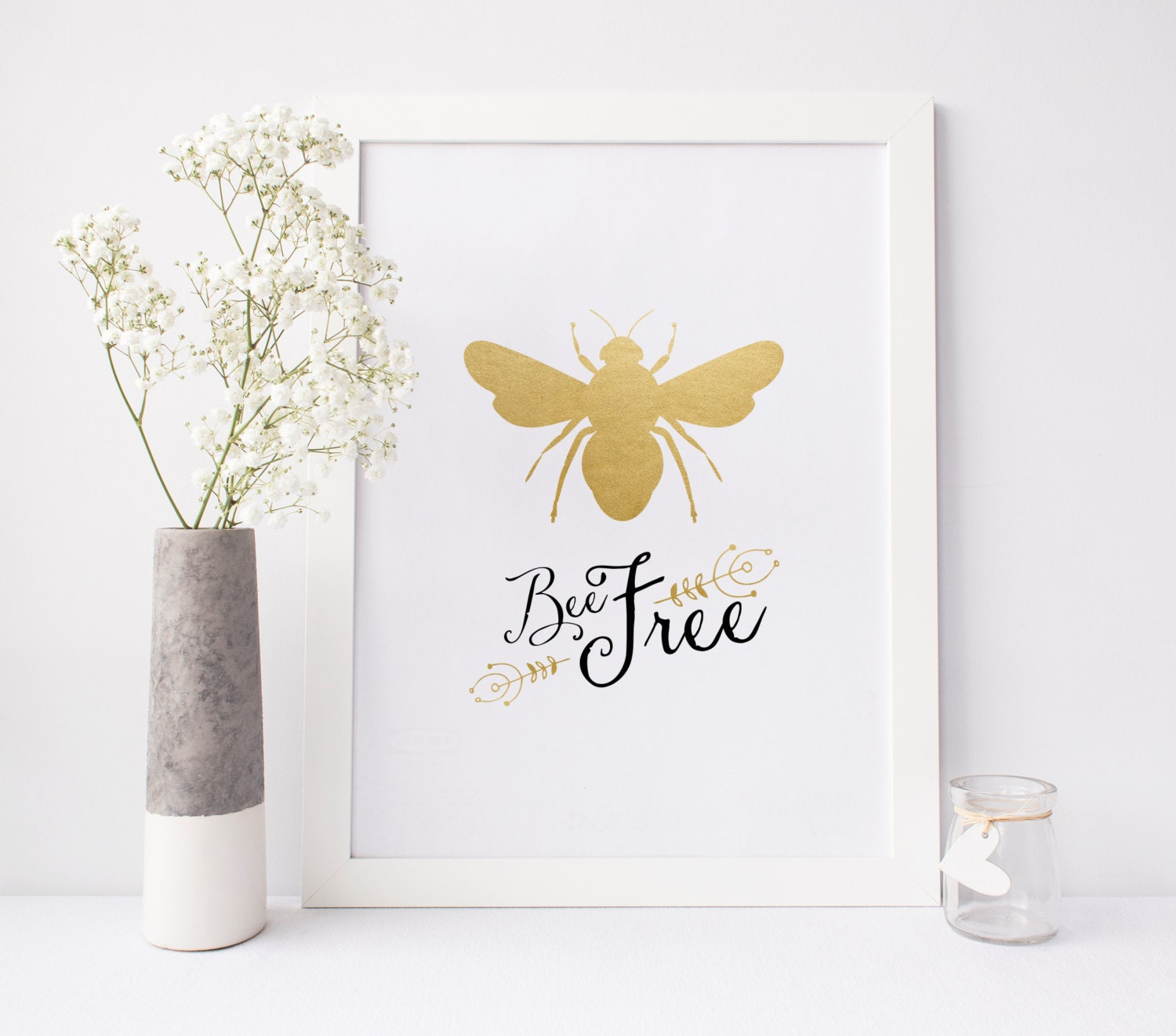 Bee Free Print Honey Bumble Poster Be
