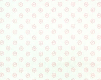 """CLEARANCE - 50"""" Premier Prints Chelsea Bella Twill - Baby Pink and White - Fabric"""