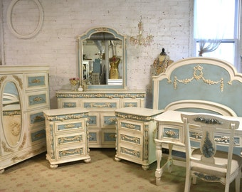 Painted Cottage Romantic French Nine Piece Bedroom Collection