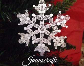 """Quilling, 2012 Ornament """"Snow on the bough"""" Snowflake"""