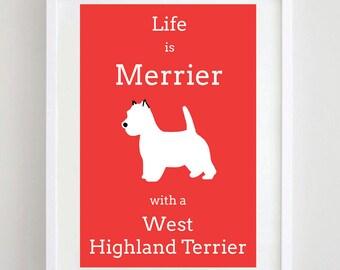 West Highland Terrier Picture Westie Terrier Print Dog Picture Dog Print Dog Art Dog Breed