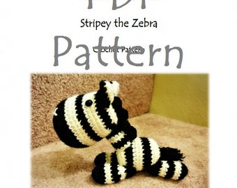 RunRunRun Series - Stripey the Zebra (PDF Pattern)