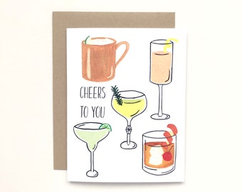 Cheers To You - Everyday Card, Congratulation Card, Birthday Card