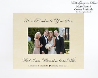 Parents of the Groom Gift Picture Frame Personalized Gift to Mother Father Thank You Gift Wedding Day Photo Frame Bridal Party Favors Ideas