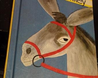 DONKEY - DONKEY by Roger Duvoisin * Hilarious Art!! * Rare Vintage Hardcover Book Parents Magazine Press 1968 * Childrens Scholastic Classic