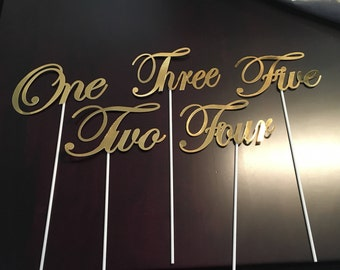table numbers - table seating numbers - custom event table numbers - table number signs