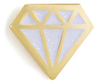 Diamond Glitter Enamel Pin