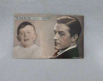 Vintage Mid Century Arcade Cards Then and Now Ray Milland