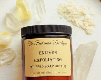 Whipped-Soap / Body Scrub / Exfoliating Soap / Fluffy Whipped Soap / Soap in a jar / Whipped Soap / Whipped Soaps / Enliven Clove Cedarwood