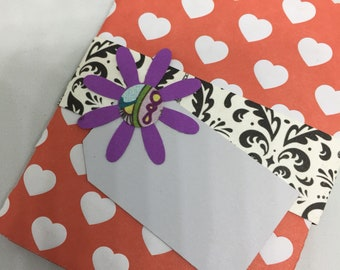 Gift Card Presentation Book with Envelope - Notebook Gift Card Holder - Grad Gift - Mothers Day Gift - Birthday