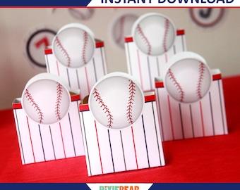 Baseball Favors - Baseball Box - Baseball Birthday Favor Box - Baseball Party Favor Box - Baseball Decorations - Template (Instant Download)