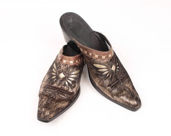 western pony hair mules // sonora by double h // sz 7.5