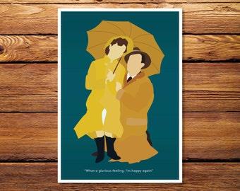 "Singing In The Rain 5""x7"" Giclee Print"